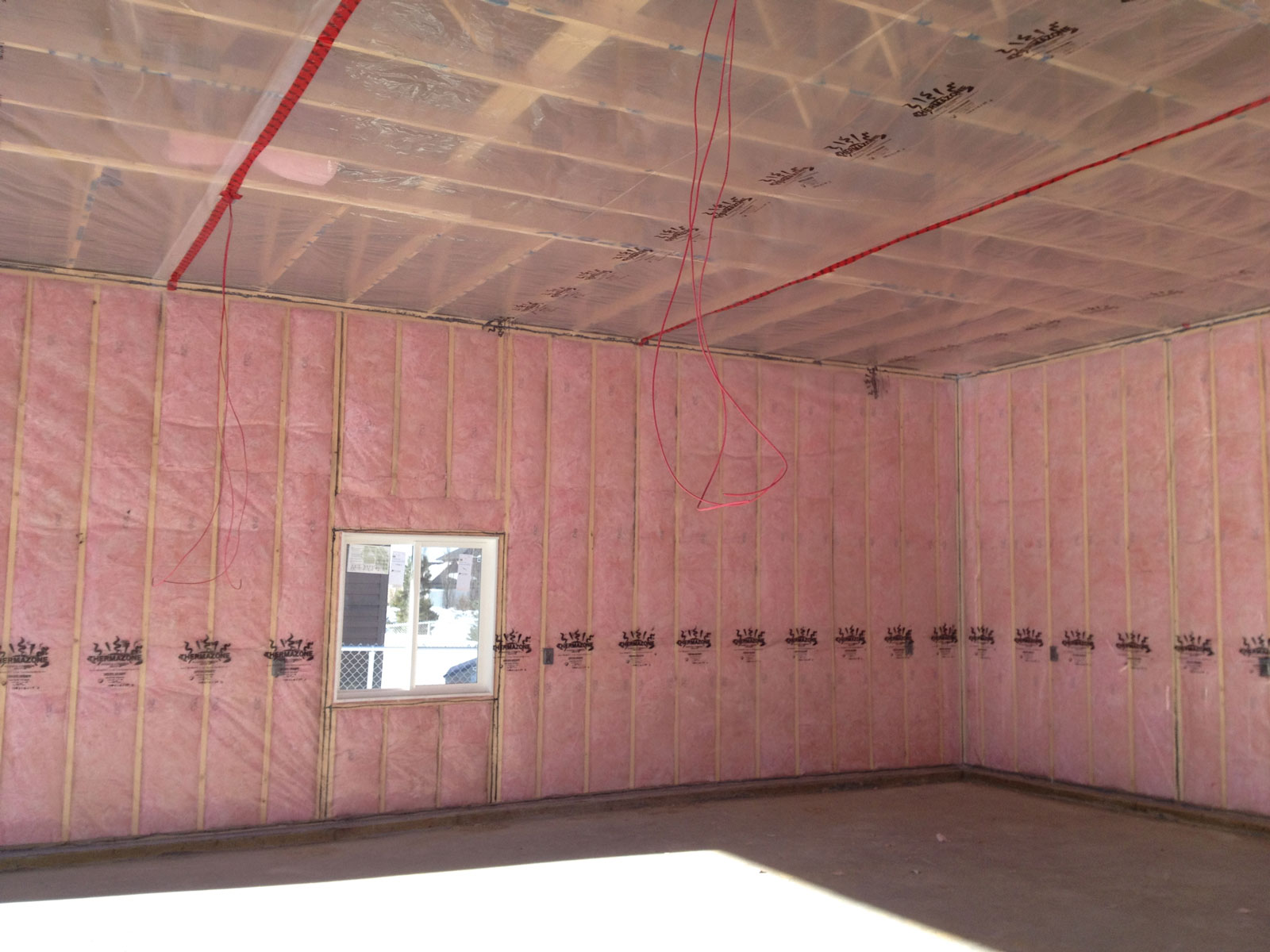 Pink wall insulation
